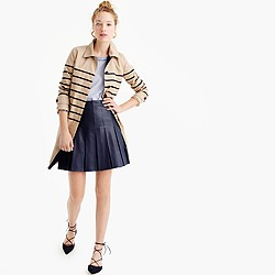 Collection leather skirt with drop pleats