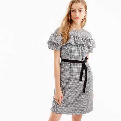 Petite Edie dress in microgingham