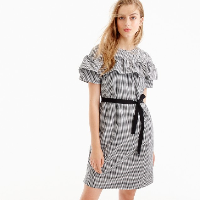 Tall Edie dress in microgingham