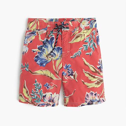 Boys' board short in maui floral