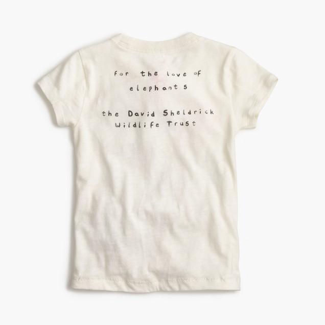 Girls' crewcuts for David Sheldrick Wildlife Trust elephant T-shirt