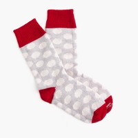 Corgi™ cashmere socks in polka dot
