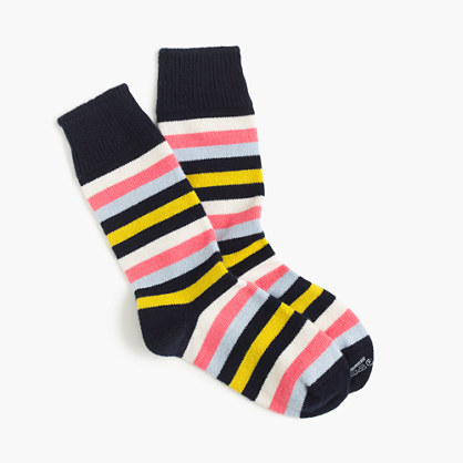 Corgi™ cashmere socks with stripes