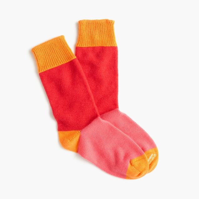 Corgi™ colorblock cashmere socks