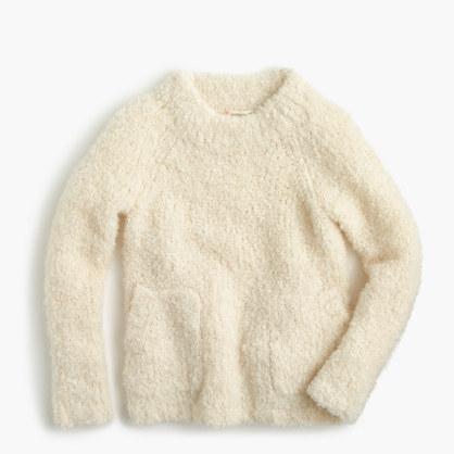 Girls' fuzzy popover sweater