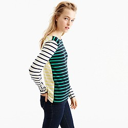 Waffle T-shirt in stripe combo