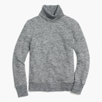 Relaxed heather turtleneck sweatshirt
