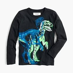 Boys' long-sleeve glow-in-the-dark 3D dino T-shirt