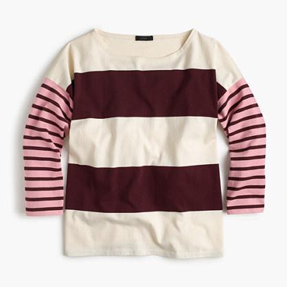 Oversized combo stripe T-shirt