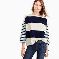 Oversized combo stripe T-shirt