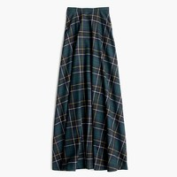 Collection maxi skirt in tartan