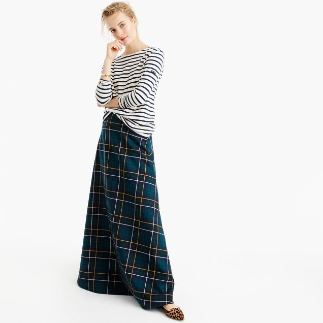 Collection maxi skirt in tartan