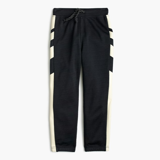 Boys' glow-in-the-dark racing-stripe sweatpant in classic fit