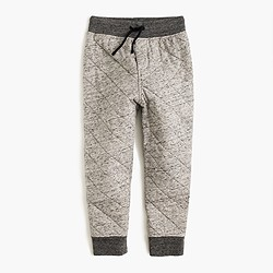 Boys' quilted sweatpant