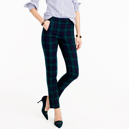 Tall cropped Maddie pant in Black Watch bi-stretch wool