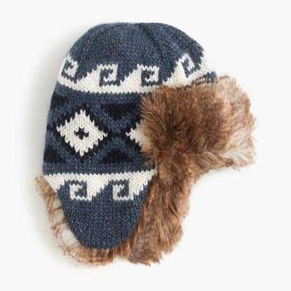 Kids' Fair Isle trapper hat