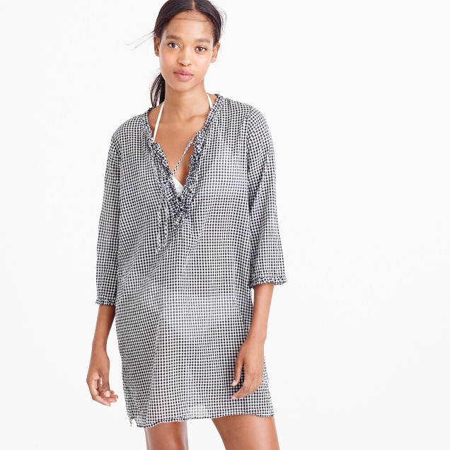 Ruffle tunic in gingham