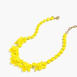 Semitranslucent crystal necklace