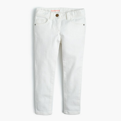 Girls' stretch toothpick jean in white