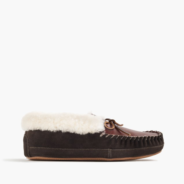 Shearling slippers men 39 s slippers j crew for J crew bedroom slippers