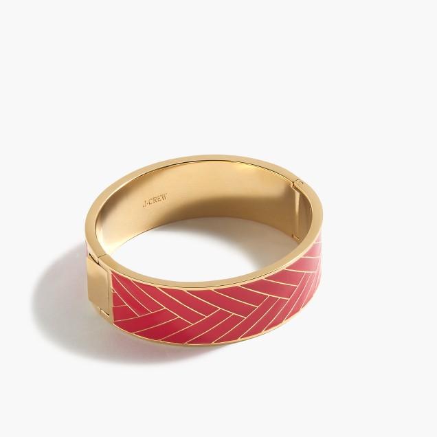 Wide chevron hinge bracelet
