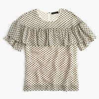Petite Edie top in textured clip dot