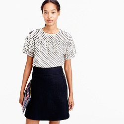Tall Edie top in textured clip dot