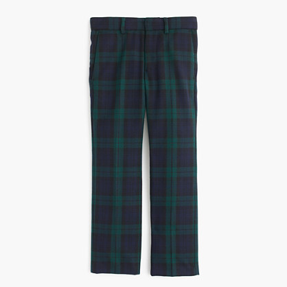 Boys' tuxedo pant in Black Watch English wool