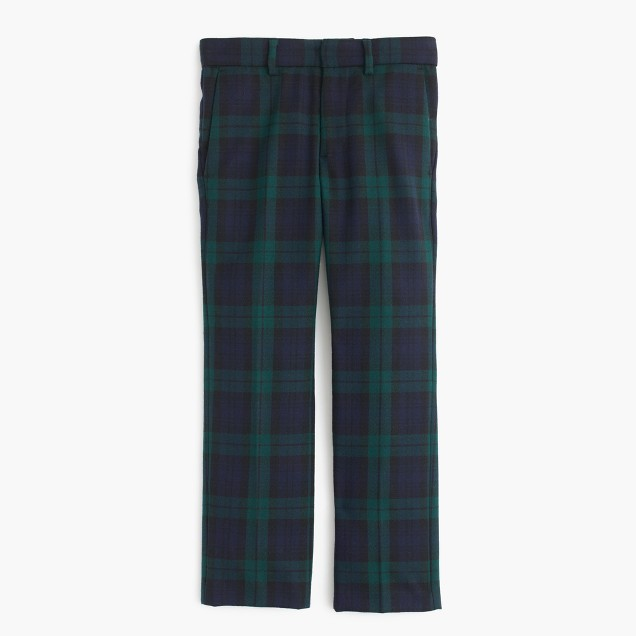 Boys' tuxedo pant in Black Watch English wool