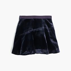 Girls' velvet skirt