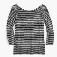 Scoopback ballet T-shirt in stripe