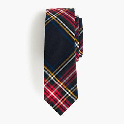 Boys' cotton tie in Stewart plaid