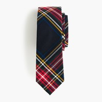 Boys' cotton tie in Stewart plaid