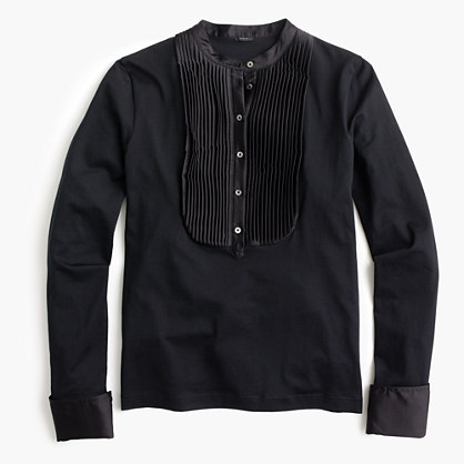 Tuxedo-inspired long-sleeve T-shirt