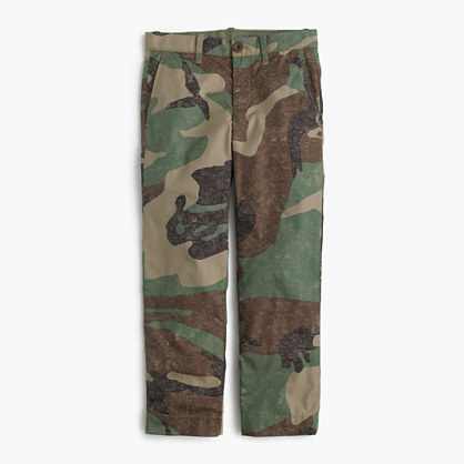 Boys' camo pant in slim fit