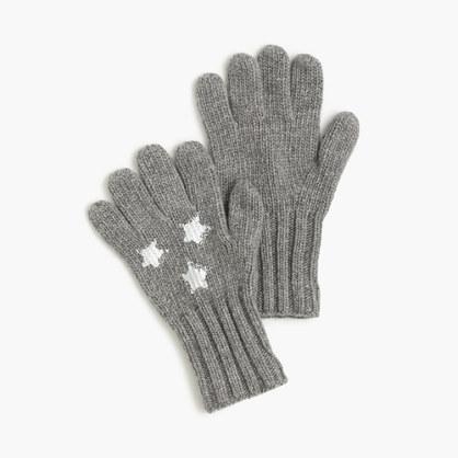 Girls' star gloves