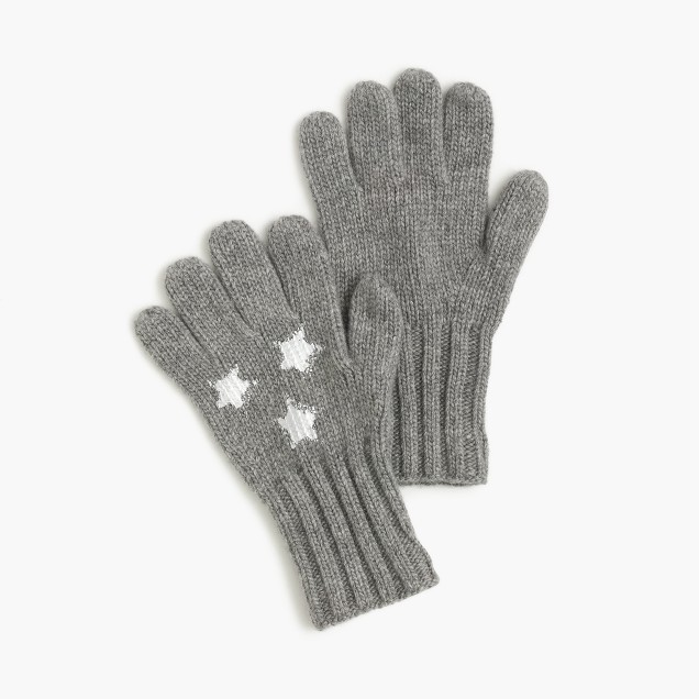 Girls' star gloves