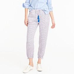 Striped tassel-tie pant