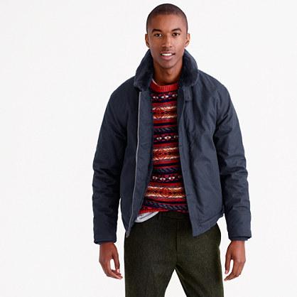 Wallace & Barnes sherpa-lined N-1 jacket