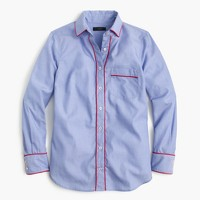 Pajama shirt with tipping