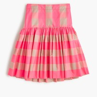 Petite taffeta skirt in neon buffalo check