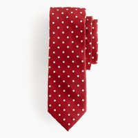 Silk oxford tie in dot