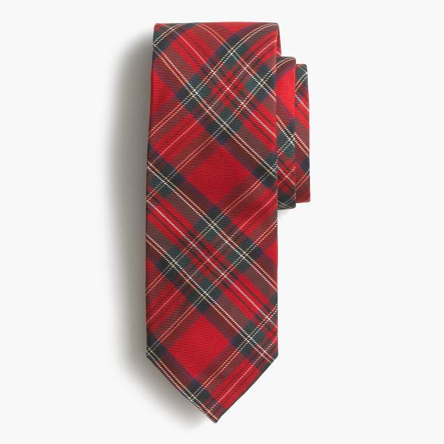 Silk tie in tartan