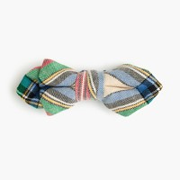 Boys' cotton bow tie inholiday plaid