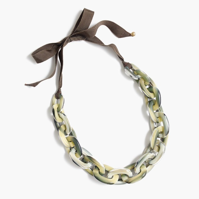 Oval Lucite necklace