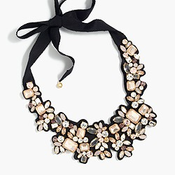 Frost crystal bib necklace