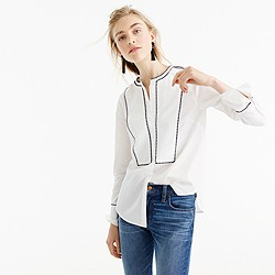 Thomas Mason® for J.Crew embroidered button-up