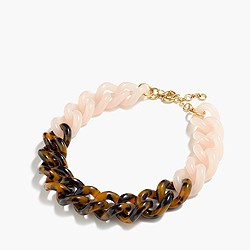 Colorblock Lucite necklace