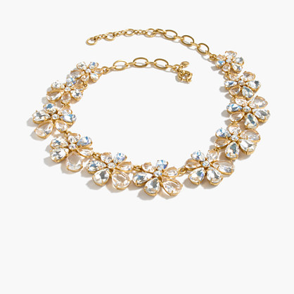 Pre-order Magnolia crystal necklace