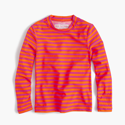 Girls' rash guard in sailor stripes